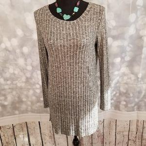 Long Tunic Gray Sweater